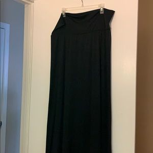 Missimo black maxi skirt